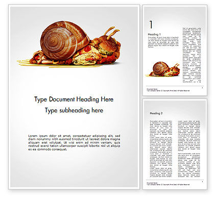 Sluggish Diet Word Template