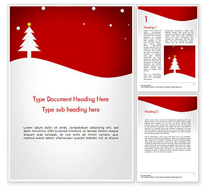 Christmas Day Background Word Template, 14437, Holiday/Special Occasion — PoweredTemplate.com