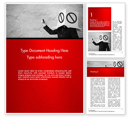 Ad Blocking Word Template, 14442, Business Concepts — PoweredTemplate.com