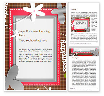 Holiday/Special Occasion: Frame Design for Baby Photo and Memories Word Template #14453