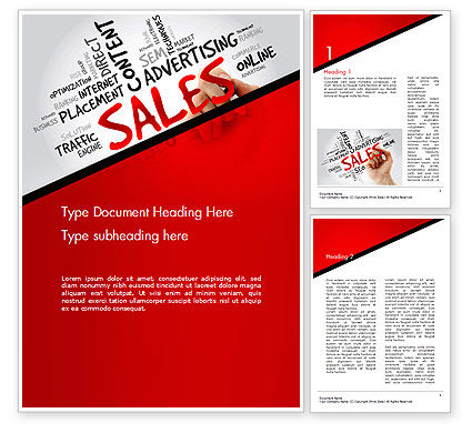 Sales Word Cloud Word Template, 14468, Consulting — PoweredTemplate.com