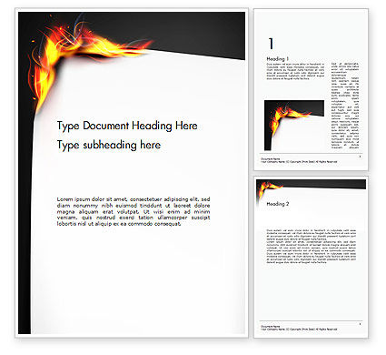 Abstract/Textures: Burning Piece of Paper Word Template #14471