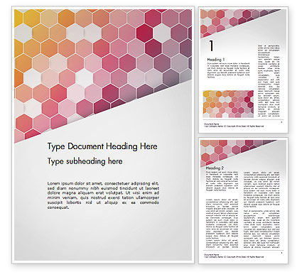 Abstract/Textures: Abstract Hexagonal Mosaic Word Template #14474