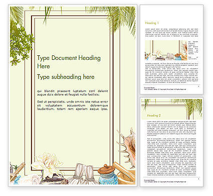 Spa Therapy Frame Word Template, 14478, Careers/Industry — PoweredTemplate.com