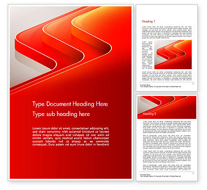 Abstract/Textures: Abstract Glossy Red Orange Perspective Steps Word Template #14479
