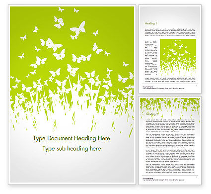 Green Spring Background Word Template
