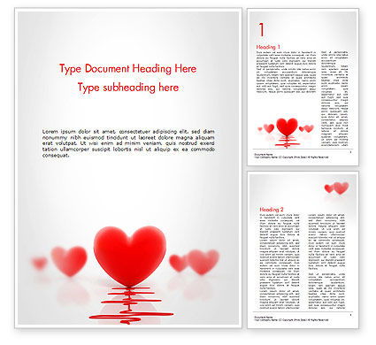 Heart Monitoring Concept Word Template