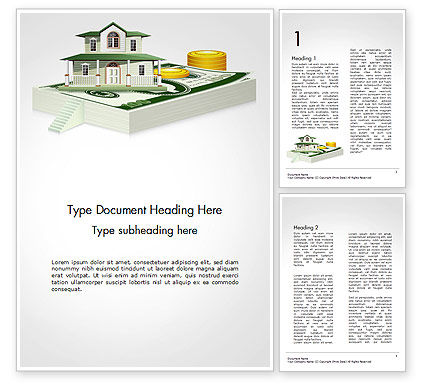 Financial/Accounting: Real Estate Investment Word Template #14560