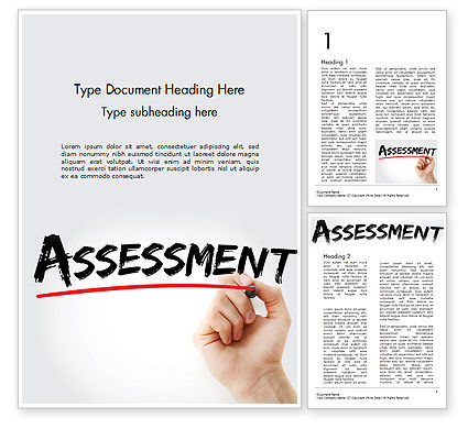 A Hand Writing 'Assessment' with Marker Word Template, 14569, Business Concepts — PoweredTemplate.com