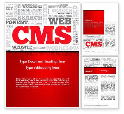 CMS Word Cloud Word Template, 14576, Technology, Science & Computers — PoweredTemplate.com