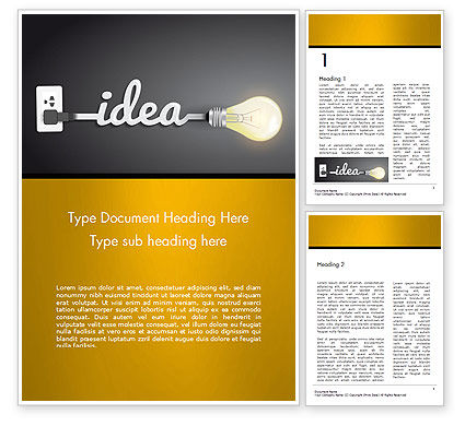 Creative Light Bulb Word Template, 14580, Education & Training — PoweredTemplate.com