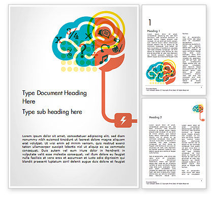Creative Brain Idea Word Template