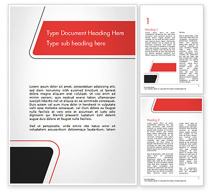 Rounded Shapes Word Template