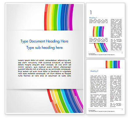 Bright Abstract Rainbow Swoosh Lines Word Template