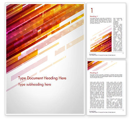 Straight Diagonal Lines Word Template