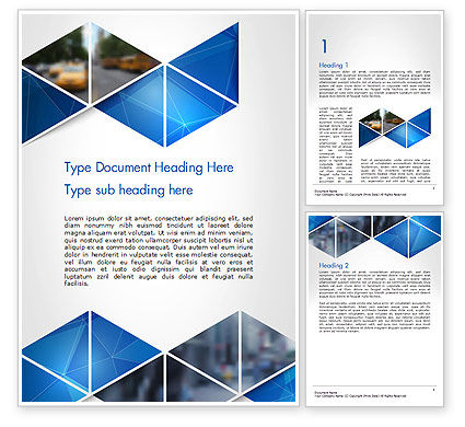 Abstract Triangular Geometric Word Template, 14640, Abstract/Textures — PoweredTemplate.com