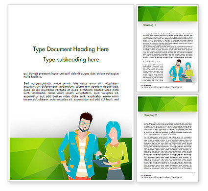 Discussion Between Young People Word Template, 14648, People — PoweredTemplate.com