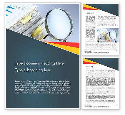 Consulting: Untersuchen und analysieren Word Vorlage #14651