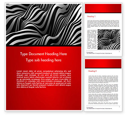 Zebra Abstract Surface Word Template, 14653, 3D — PoweredTemplate.com