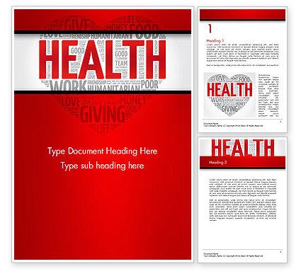 Health Word Cloud Word Template, 14659, Medical — PoweredTemplate.com