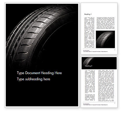 Tire Closeup Word Template
