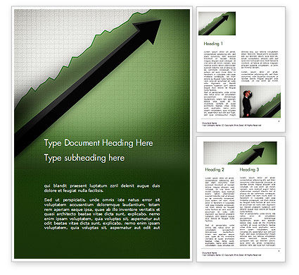 Business Concepts: Straight Diagonal Arrow Word Template #14679