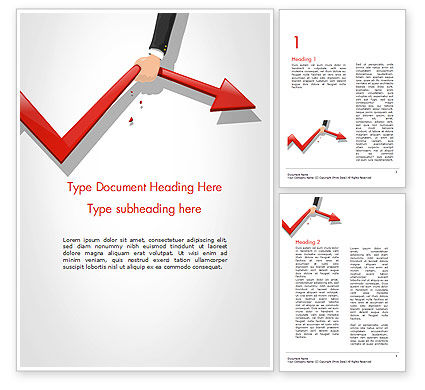 Businessman's Hand Pulling Red Arrow Word Template, 14689, Business Concepts — PoweredTemplate.com