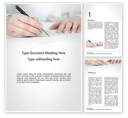 Business: Zakenvrouw Ondertekend Contract Word Template #14691