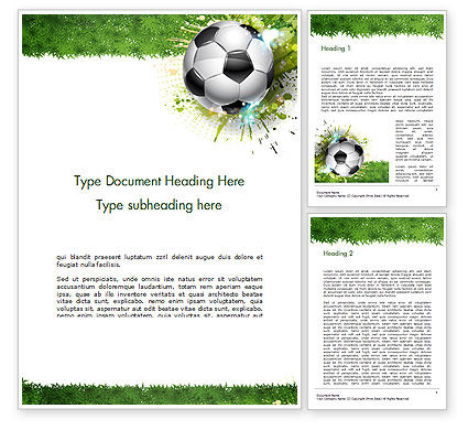 Splash Football Background Word Template, 14706, Sports — PoweredTemplate.com