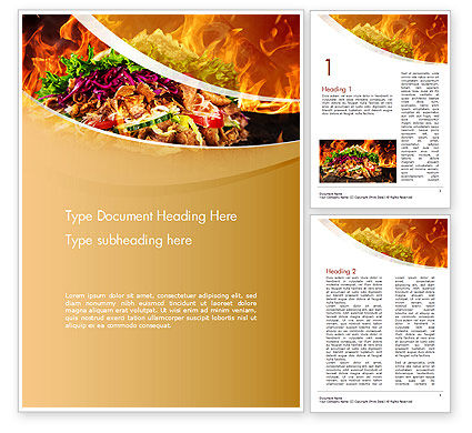 Testy Kebab Word Template, 14710, Food & Beverage — PoweredTemplate.com
