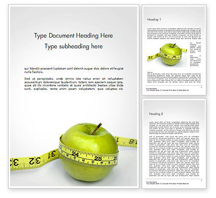 The Best Way To Lose Weight Word Template, 14722, Medical — PoweredTemplate.com