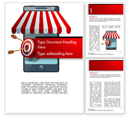 Canopy over Stall and Target with Arrows Word Template, 14732, 3D — PoweredTemplate.com