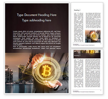 Businessman Control with Bitcoin Technology Word Template, 14738, Technology, Science & Computers — PoweredTemplate.com