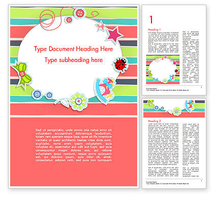 Holiday/Special Occasion: Colorful Baby Shower Invitation Word Template #14749