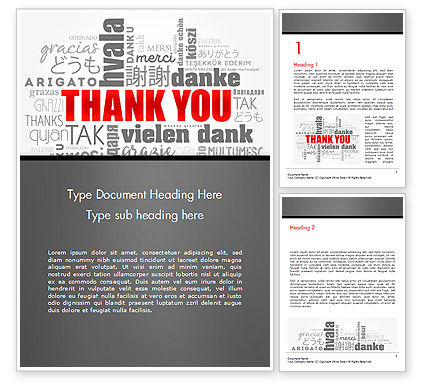 Business Concepts: Thank You Word Cloud in Different Languages Word Template #14752