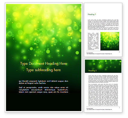 Green Bokeh Light Word Template, 14761, Abstract/Textures — PoweredTemplate.com
