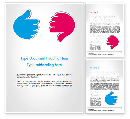 Like and Unlike Hand Word Template, 14762, Business Concepts — PoweredTemplate.com