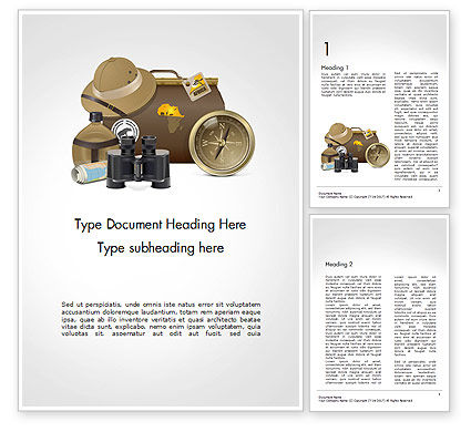 Safari Accessories Word Template