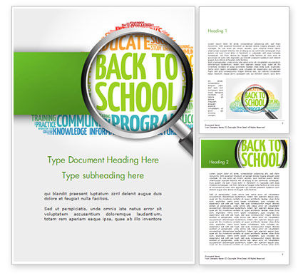 Back to School Word Cloud Word Template