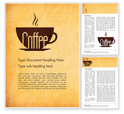 Food & Beverage: Cup of Coffee Word Template #14783