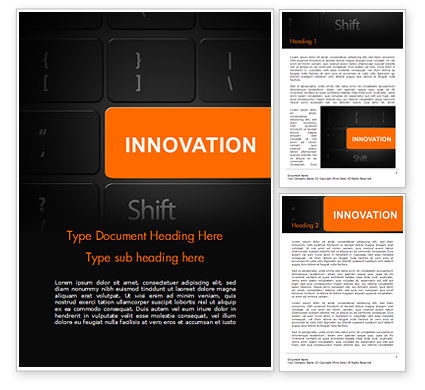 Innovation Shift Word Template, 14784, Business — PoweredTemplate.com