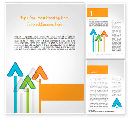 Business Concepts: Upward Arrows Theme Word Template #14786