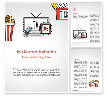 Hand Drawn Entertainment Symbols Word Template