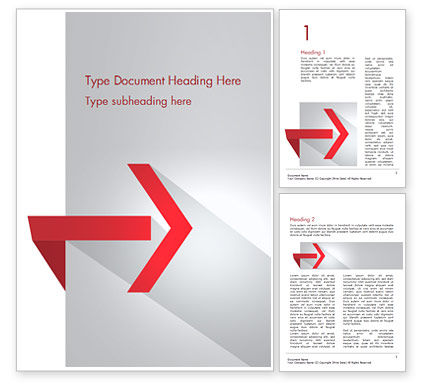 Right Red Arrow Theme Word Template
