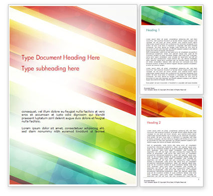 Colorful Diagonal Stripes Word Template