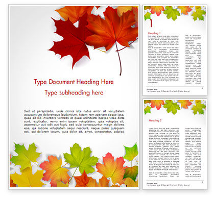 Autumn Maple Leaves Word Template