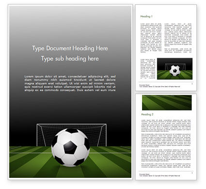 Sports: Soccer Ball On Eleven-meter Mark Word Template #14825
