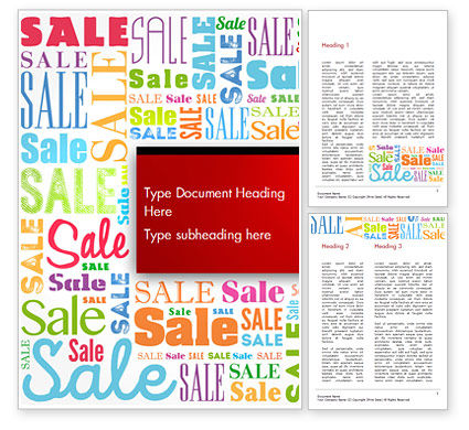 Sale Word Cloud Word Template