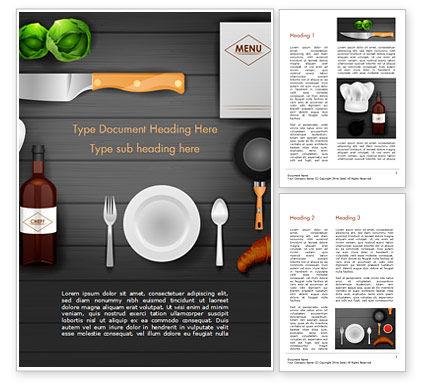 Food & Beverage: Kitchen Utensil Illustration Word Template #14851
