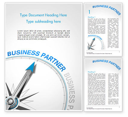 Finding Business Partner Concept Word Template, 14853, Business Concepts — PoweredTemplate.com